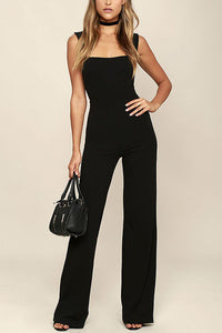 Sexy Elegant Sleeveless Jumpsuit In Black - lolabuy