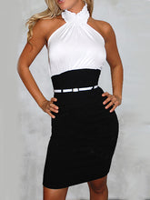 Halter  Plain Bodycon Dress - lolabuy