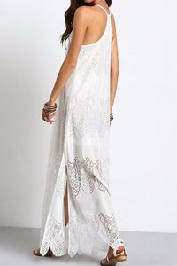 Elegant Sexy Lace Sleeveless Vacation Maxi Dress - lolabuy