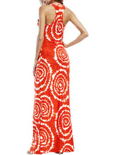 Round Neck  Printed Maxi Dress - lolabuy