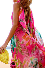 Bohemia Halter Neck Floral Print Vacation Maxi Dress - lolabuy