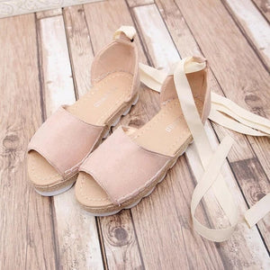Platform Lace-Up Summer Sandals Shoes - lolabuy