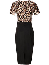 Deep V-Neck  Animal Printed Bodycon Dress - lolabuy