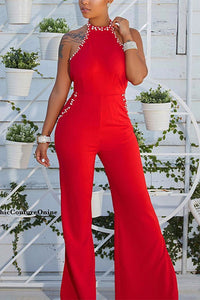 Sexy Backless Sleeveless Pearl Jumpsuit - lolabuy