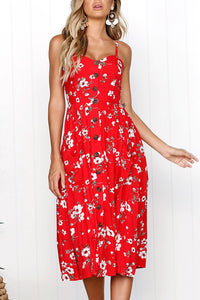 Sexy Red Sleeveless Vacation Maxi Dress
