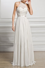 Elegant Chiffon Sleeveless Neck Evening Dress
