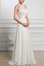 Elegant Chiffon Sleeveless Neck Evening Dress - lolabuy