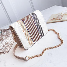 Color Weaving Chain Crossbody Bag - lolabuy
