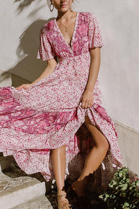 Sexy Bohemia Floral Print Vacation Maxi Dress