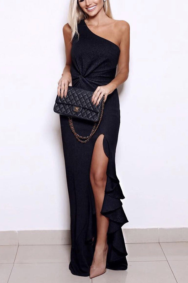 Sexy Elegant One Shoulder Maxi Dress - lolabuy