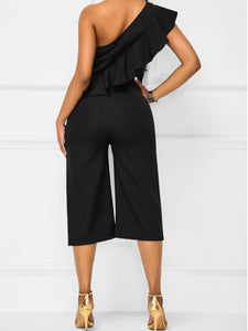 Sexy Sloping Shoulder Strapless Jumpsuit - lolabuy