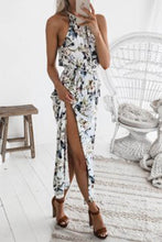 Round Neck  Belt  Printed Maxi Dress - lolabuy