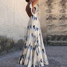 Sexy Sleeveless Floral Print Maxi Dress - lolabuy