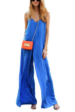 Stylish Casual Blue Plain Jumpsuit - lolabuy