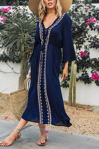 Sexy Long Sleeves Covers Up Maxi Dress