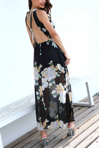 Fashion Halter Slit Beach Dress - lolabuy