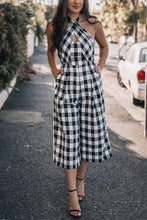 Fashion Halter Checked Jumpsuit - lolabuy