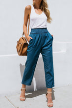 Fashion Elastic Waist Straight Cowboy Pants