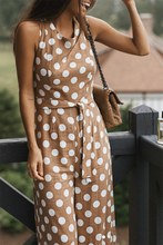 Sexy Polka Dot Sleeveless Wide Leg Jumpsuit