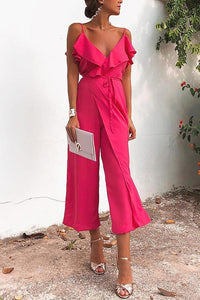 Sexy Fashion Rose Sleeveless Jumpsuits - lolabuy