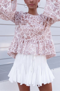 Lovely Sweet Loose Pagoda Sleeve Vacation Blouse