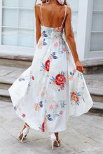 Sexy Deep V Collar Blinding Floral Printed Maxi Dress - lolabuy