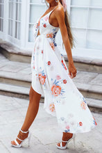 Sexy Deep V Collar Blinding Floral Printed Maxi Dress