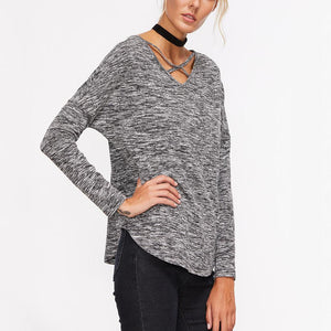 Long Sleeve Bottoming Sweater V-Neck Top