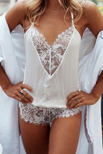 Sexy Hollow Out Lace Split Joint Jumpsuit