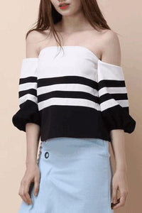 Sexy Off Shoulder Long Sleeve T-Shirt Blouses