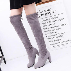 Over-The-Knee Boots  High Heel And Thick Lady - lolabuy