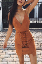 Sexy Condole Belt Lace-Up Bodycon Dress