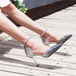 Fashion Gradient Paillette High Heel Sandal - lolabuy