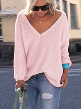 V Neck Loose Fit Sweater - lolabuy