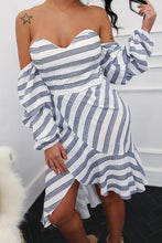 Sexy Strip Off Shoulder Short Sleeve Tube Bodycon Dress - lolabuy