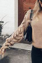 Sexy Loose Plain Round Neck Lace-Up Long Sleeve Sweater - lolabuy