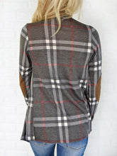 Large Plaid Slim Fashion Cardigan - lolabuy