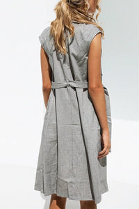 Fashion Plain Sleeveless Casual Outerwear - lolabuy