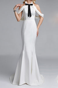Sexy Elegant Slim Sleeveless Halter Evening Dress - lolabuy