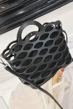 Fashion Plain Hollow Out One Shoulder Hand Bag