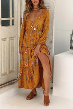 Fashion Floral Print Long Sleeve Maxi Dress - lolabuy