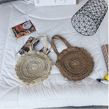 Fashion Casual Vacation Knitting Round Shape Hand Bag - lolabuy