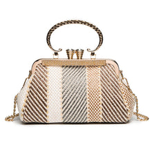 Fashion Elegant Strip Shell Shape Chain One Shoulder Hand Bag - lolabuy