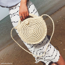 Vacation Fashion Casual Plain Knitting Round Shape One Shoulder Hand Bag - lolabuy