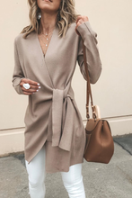 Solid Color V-Neck Casual Outerwear - lolabuy