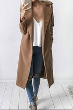 Elegant Fashion Casual Loose Plain V Collar Long Sleeve Coat Cardigan