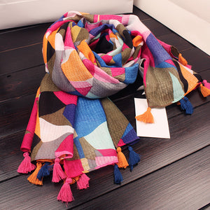 Fashion Floral Printed Soft Scarf - lolabuy