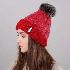 Fashion Winter Knit Wool Floss Hat - lolabuy