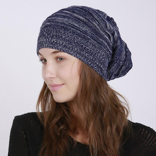 Fashion Winter Mix Knit Wool Handmade Hat - lolabuy