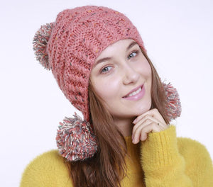 Fashion Winter Mix Knit Wool Hat - lolabuy